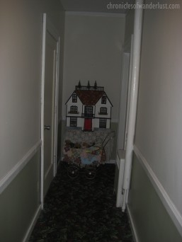The creepy baby carriage. No one is encouraged to spend a night in the room to the right (hence access is obstructed). If you believe in the paranormal, it's the most active room at the Inn.